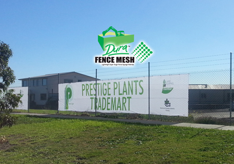 Prestige logo and advertising on the fence banners