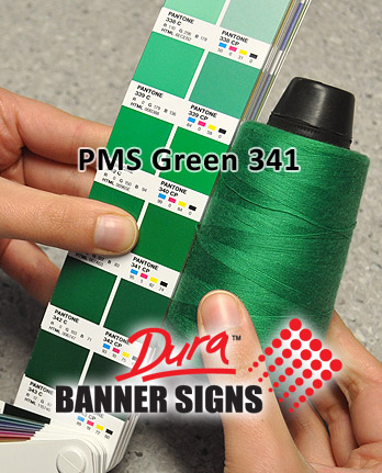PMS Green 341 Sewing Color