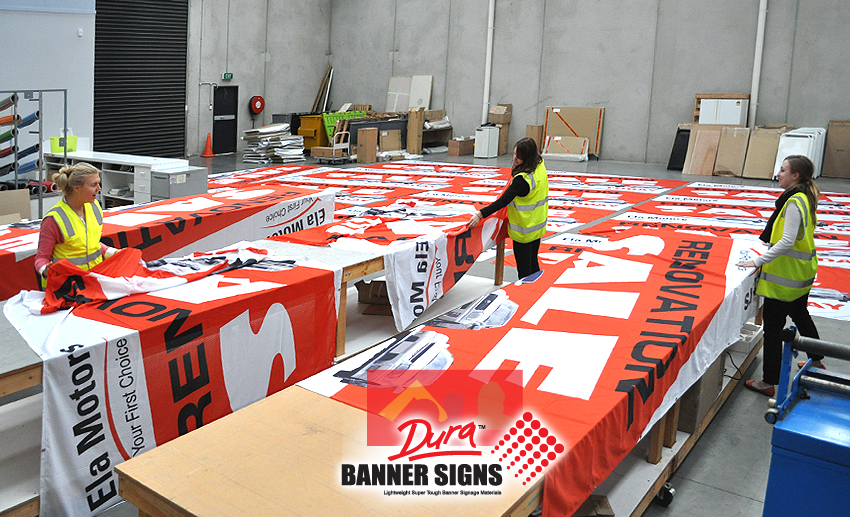 Large quantity of Custom Banner Signage