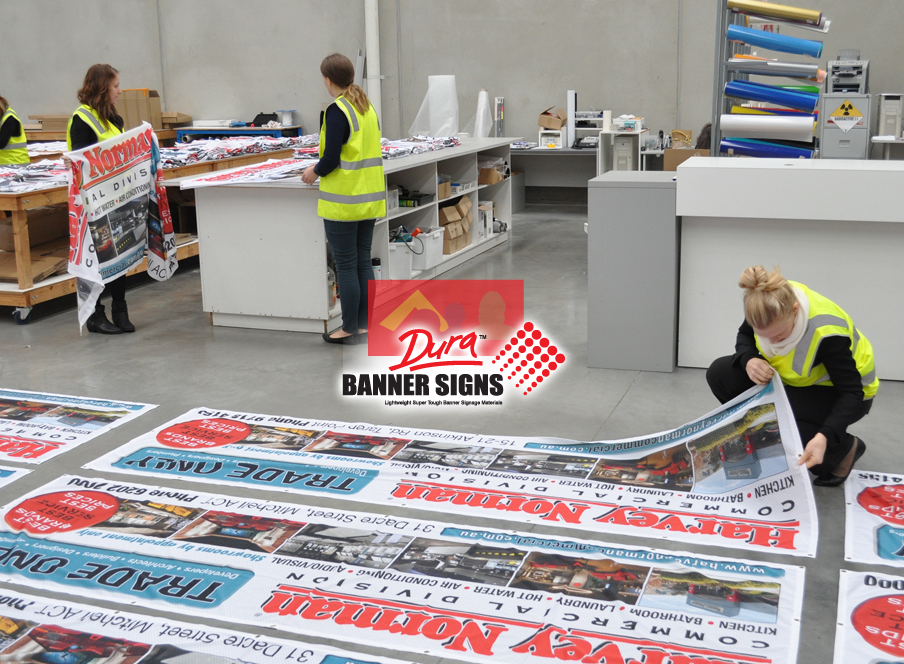 Trade banners for wholesalers and corporate business advertising agencies banners for Harvey Norman stores