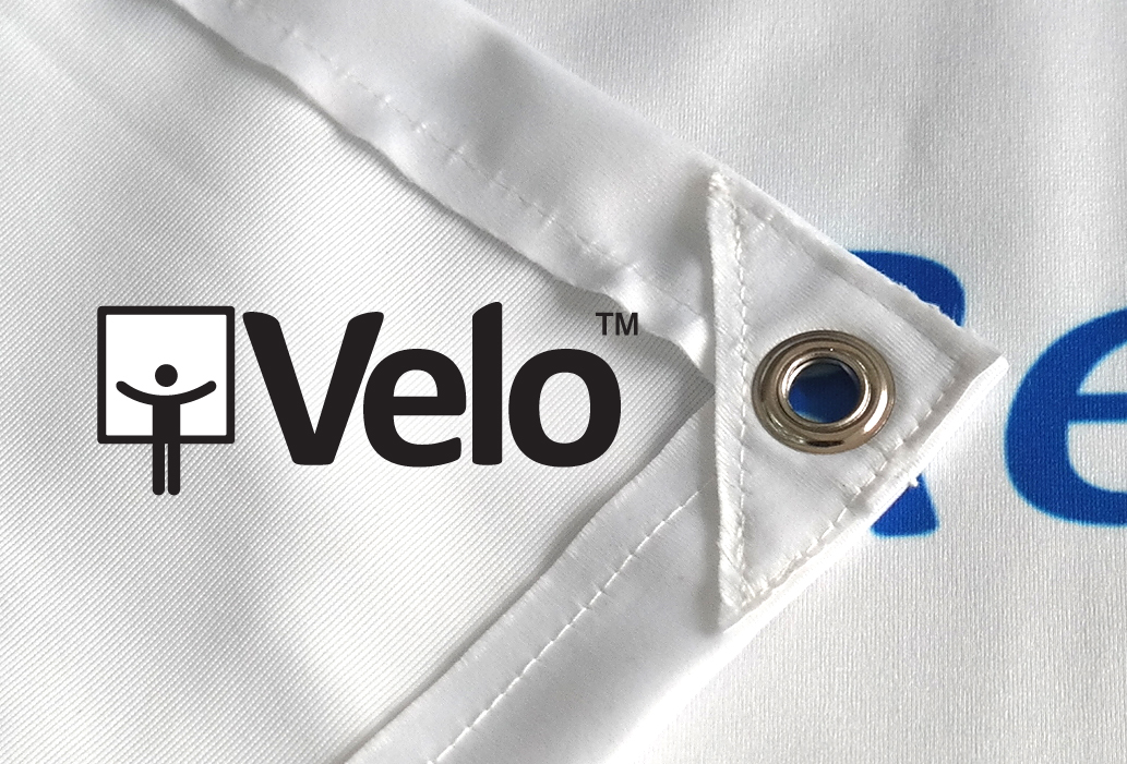 Velo is a polished fabric banner sign material ideally suited for printing sublimated