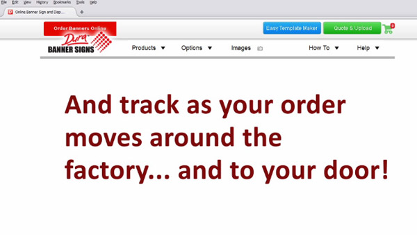 Track your order from factory to you door.
