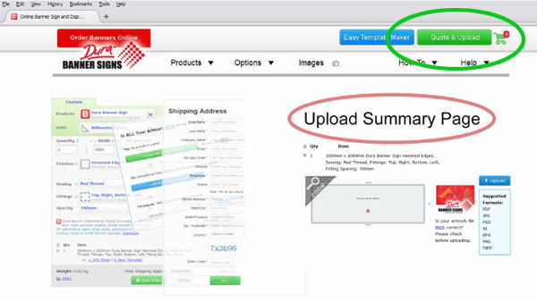 Move through the steps to reach the Upload Summary page