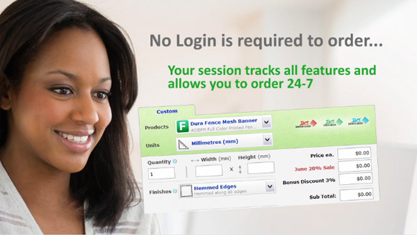 You do not need a login to order
